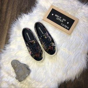 Superga Anthropologie Velour Floral Sneakers 8